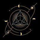 Geometrisches Dreieck mit Monden von HDave