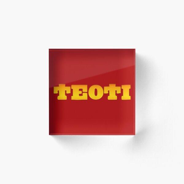 TEOTI (Gold) Acrylic Block