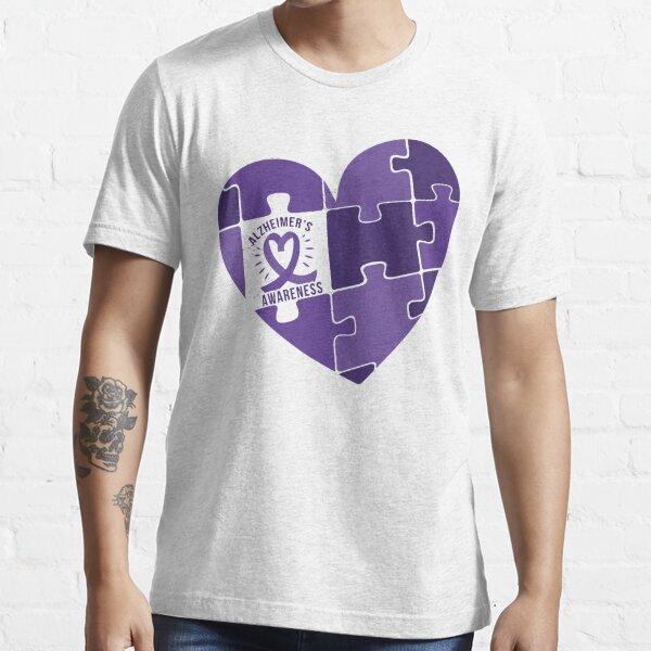Alzheimer Awareness Band with Heart. Essential T-Shirt