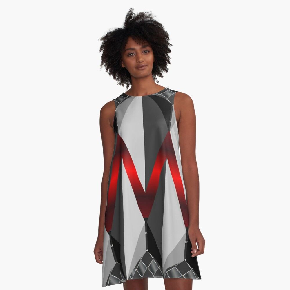 Metallight Overlord Red Seamless Pattern A-Line Dress