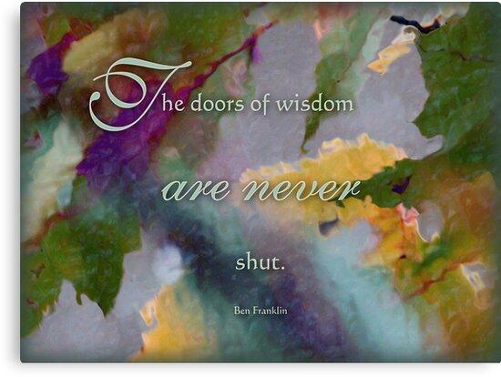 doors of wisdom - wisdom saying no. 8 by vigor