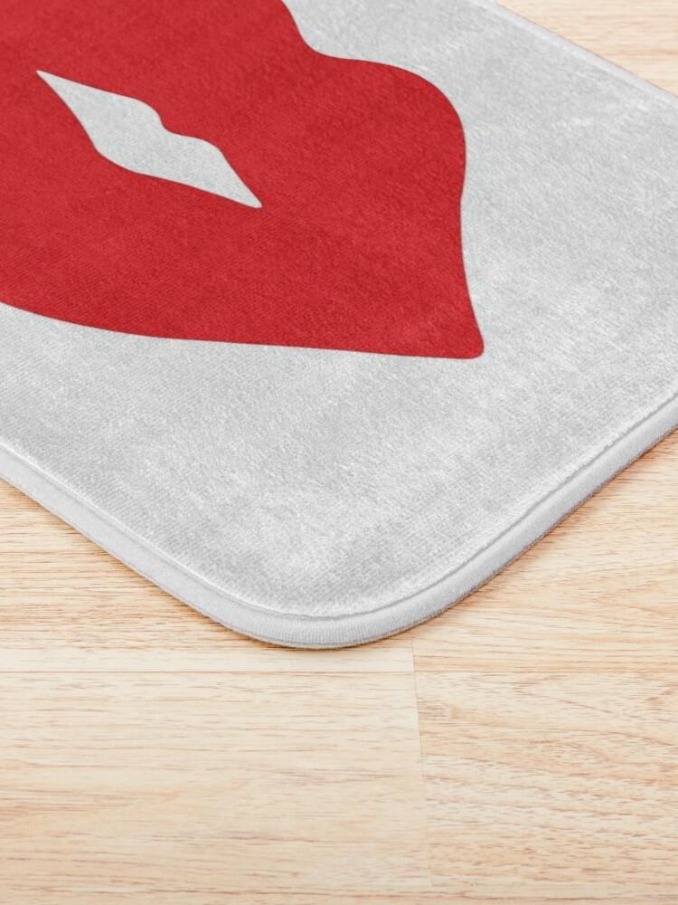 Alternate view of Red Lips Bath Mat