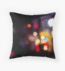 Rainy Streets Throw Pillow