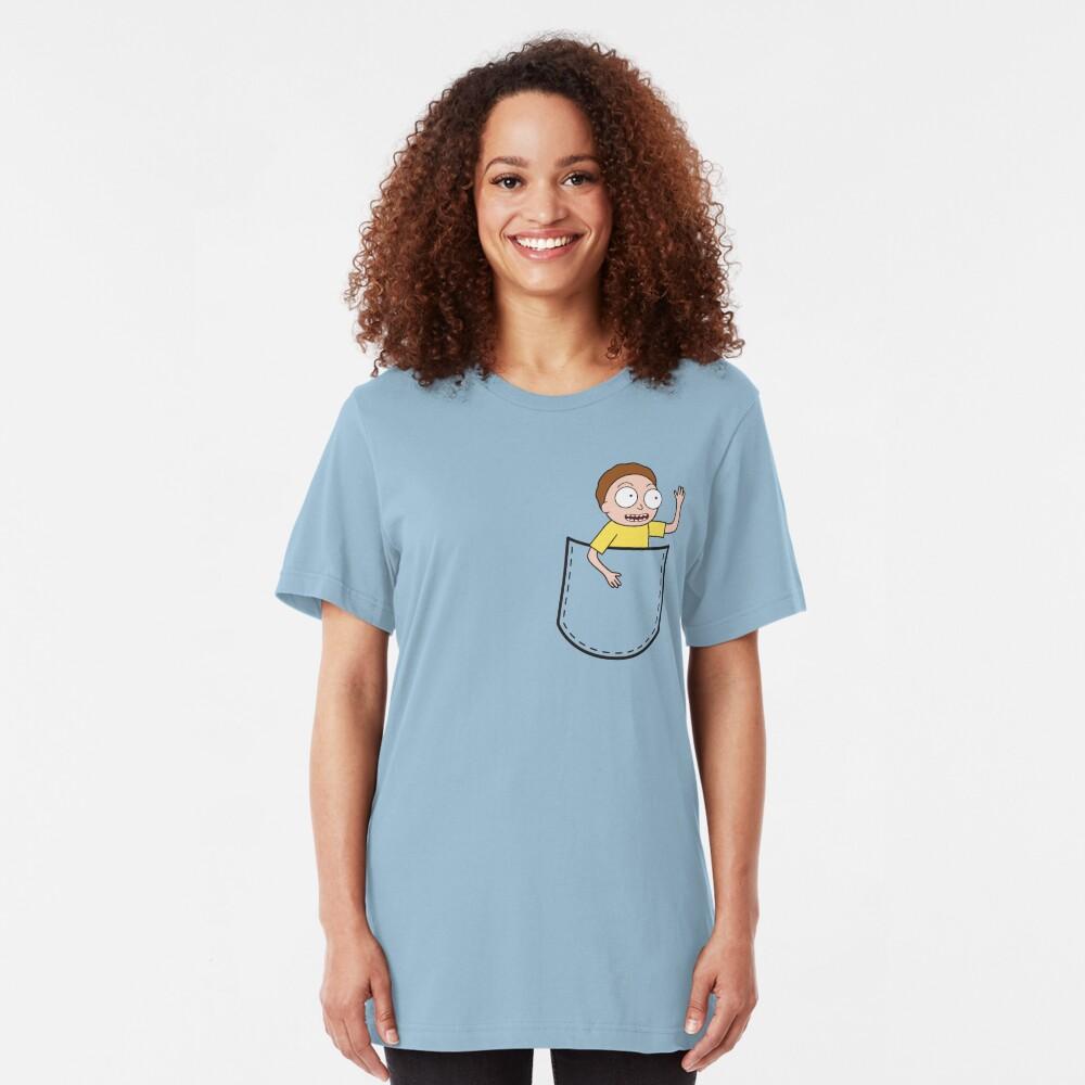 Rick & Morty Pocket Morty Slim Fit T-Shirt