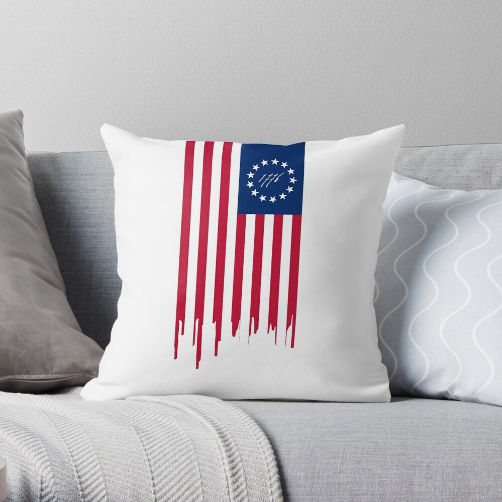 BETSY ROSS US FLAG 1776 Throw Pillow