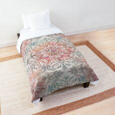 Autumn Spice Mandala in Coral, Cream and Rose Comforter