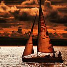 Sunset Sailing by Clive