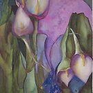 blue birds and Callas by Ellen Keagy