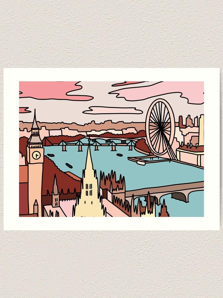 Alternate view of London skyline by Sasa Elebea Art Print