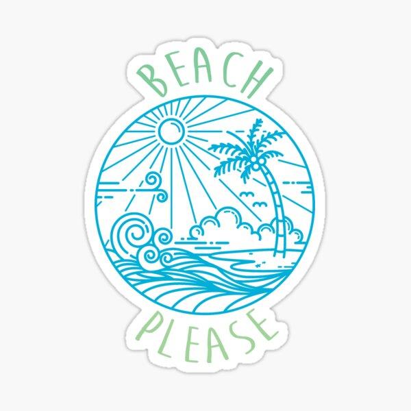 Beach Please Pastel Sticker
