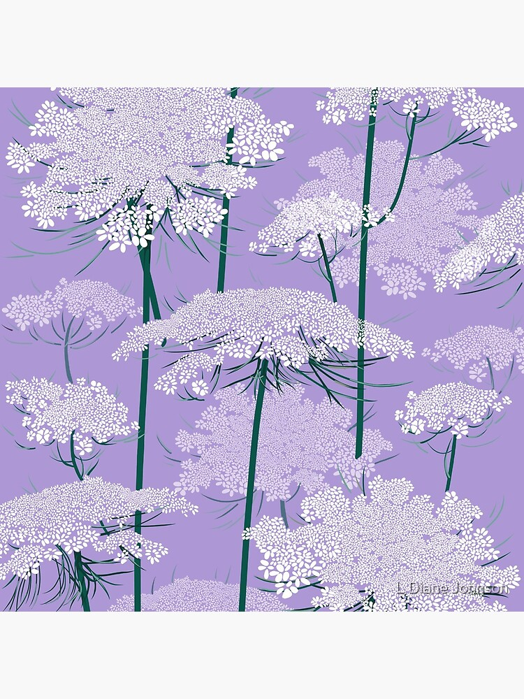 Romantic Queen Annes Lace Pattern | Violet by LDianeJohnson