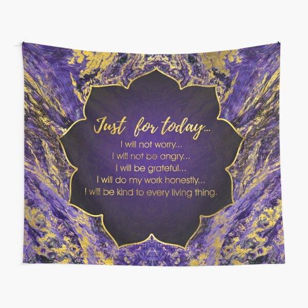 Reiki Principles - Reiki Precepts Tapestry
