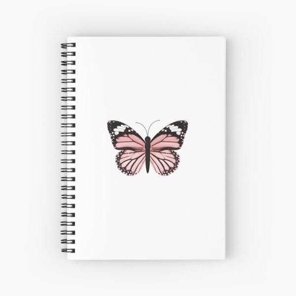 Light Pink Butterfly  Spiral Notebook