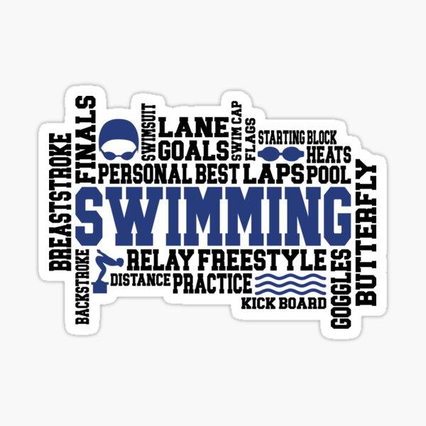 Swimming Word Art Sticker