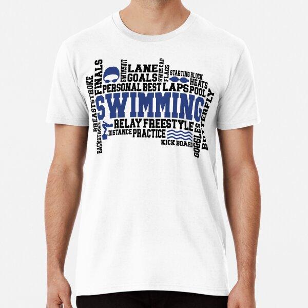 Swimming Word Art Premium T-Shirt