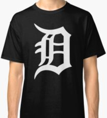 Detroit Old English D (White) Classic T-Shirt