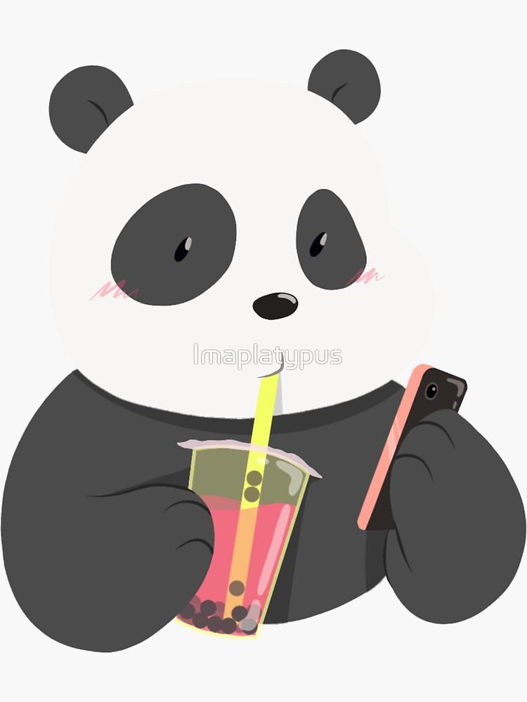 Panda Phone and Boba Tea by Imaplatypus
