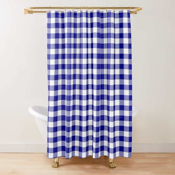 Australian Flag Red And White Jackaroo Gingham Check Shower Curtain By Podartist Redbubble