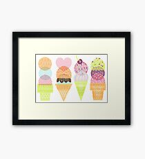 Ice Cream Stamps Framed Print