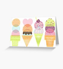 Ice Cream Stamps Greeting Card