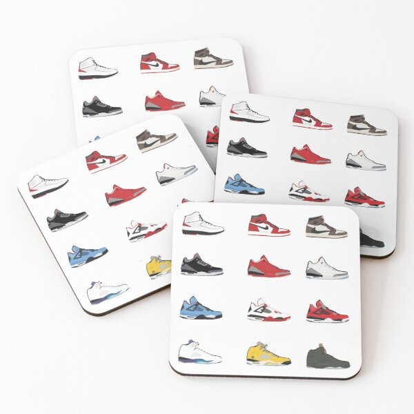 Jordan Retro Collection Coasters (Set of 4)
