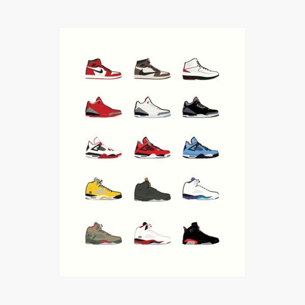 Jordan Retro Collection Art Print