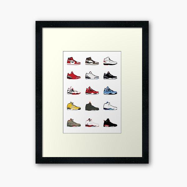 Jordan Retro Collection Framed Art Print