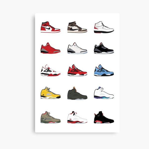 Jordan Retro Collection Canvas Print