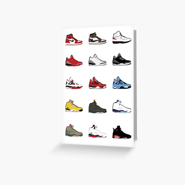 Jordan Retro-Sammlung Grußkarte