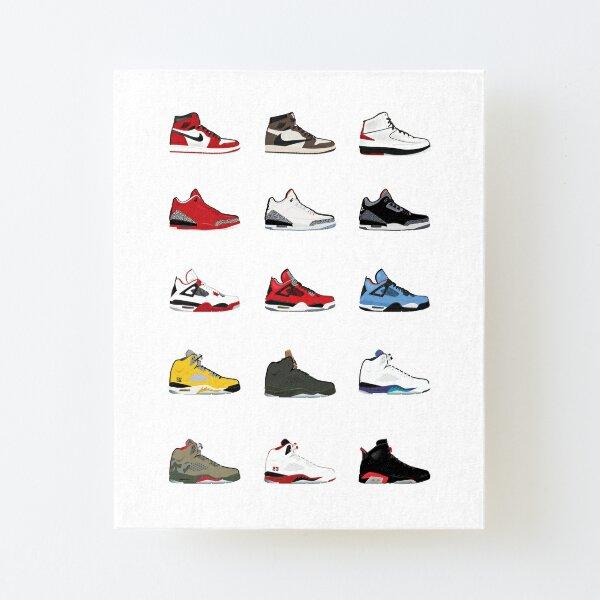 Jordan Retro Collection Impression montée sur toile
