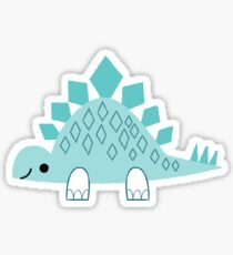 Aqua Stegosaur Sticker