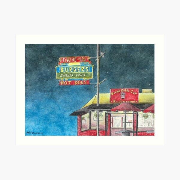 """Tony's Cable Car"" Art Print"
