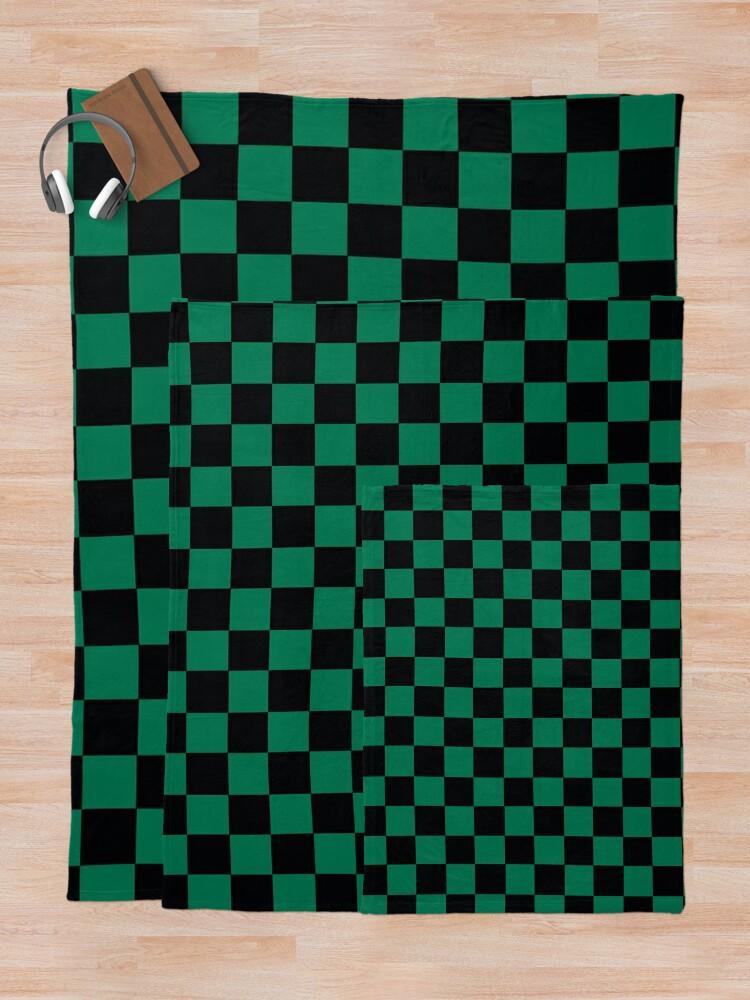 Alternate view of Demon Slayer Tanjirou pattern Throw Blanket