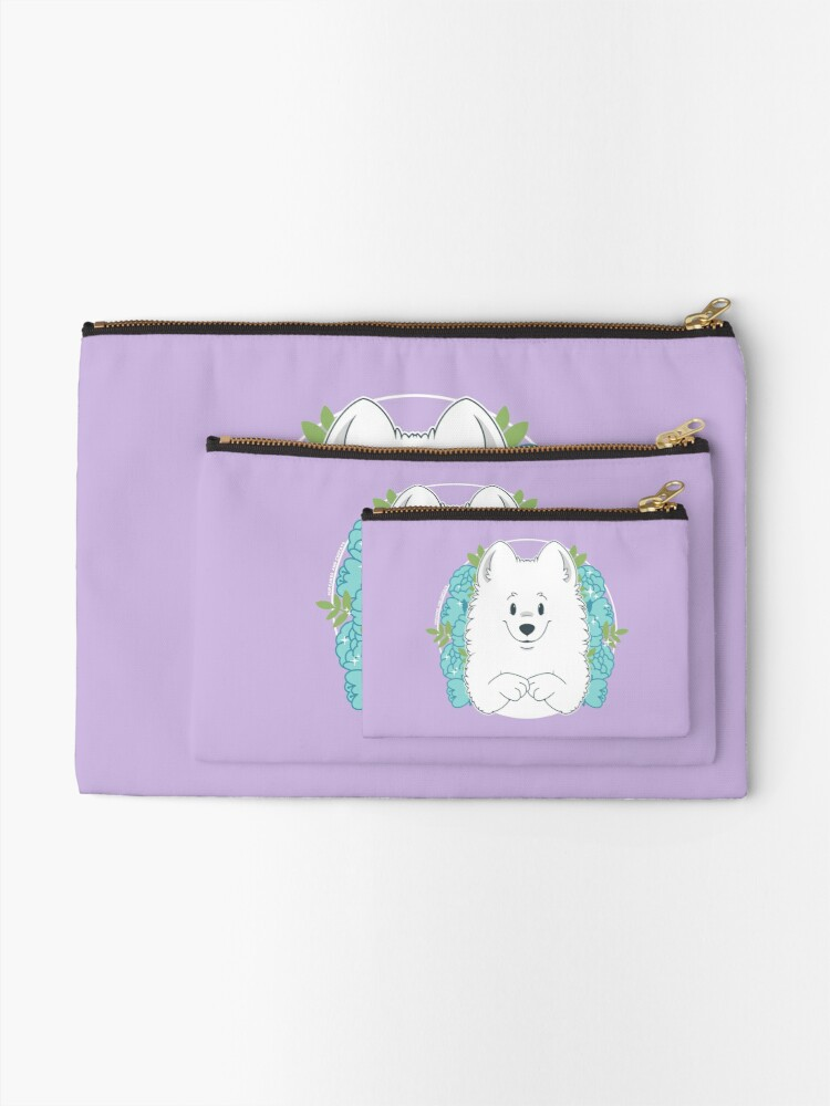 Alternate view of Marshall the Samoyed Zipper Pouch