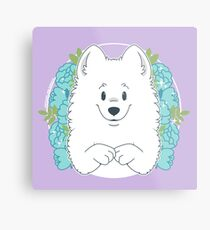 Marshall the Samoyed Metal Print