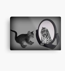 ㋡ MIRROR OF TRUTH WHAT DO I SEE? I SEE THE REAL TIGER IN ME ㋡ PICTURE/CARD Metal Print