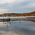 Autumn - Stearns Pond by T.J. Martin