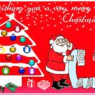 Wishing you a very merry Christmas Card by Bernie Stronner