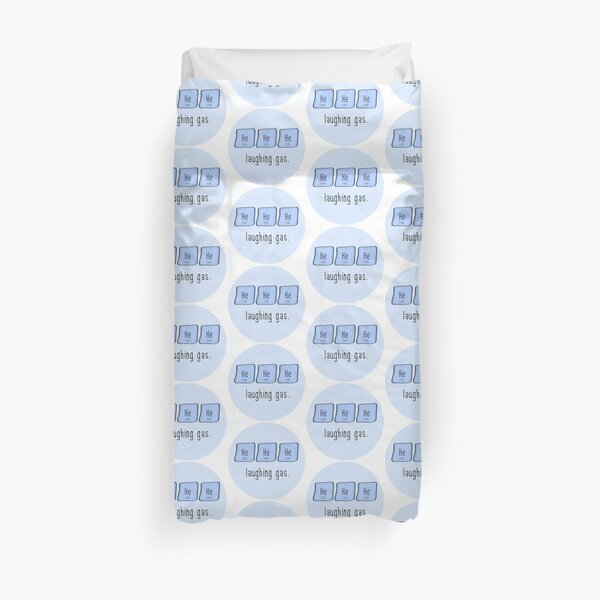 Laughing gas. (Sticker) Duvet Cover