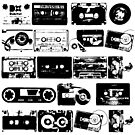 Audio tapes Vintage Black and white by dadawan