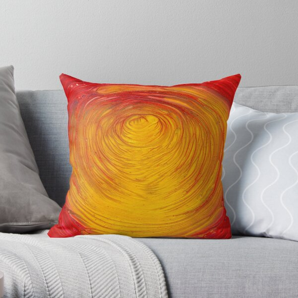 Ethereal Gold Tunnel  Throw Pillow