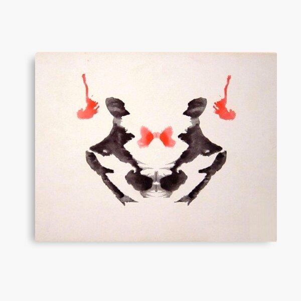 INKBLOT. Psychology, Third blot, Rorschach, inkblot test. Canvas Print