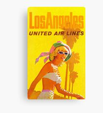 Los Angeles - Vintage Airline Travel Poster  Canvas Print