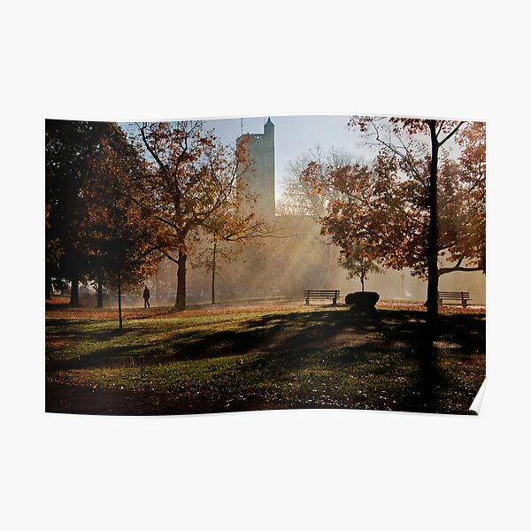 Autumn Morning Outside Pierce Hall Poster