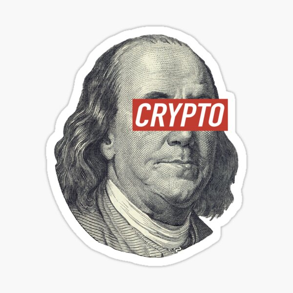 B.Franklin Crypto Sticker