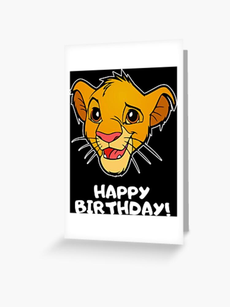 Leonard le lion carte de vœux