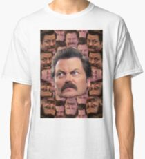 Ron Swanson Head Print Classic T-Shirt