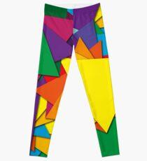 Geometric triangle math shapes Leggings
