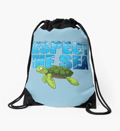 Respect the Sea Drawstring Bag
