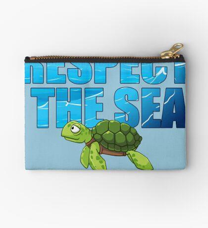 Respect the Sea Zipper Pouch